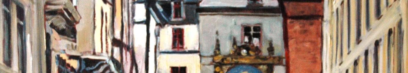 Promeneurs à Rouen 92x73